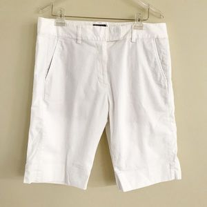 ADIDAS Stretch Shorts-White-Bermuda-Flat Front-14